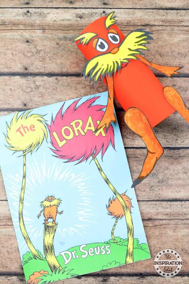 Lorax Toilet Roll Craft