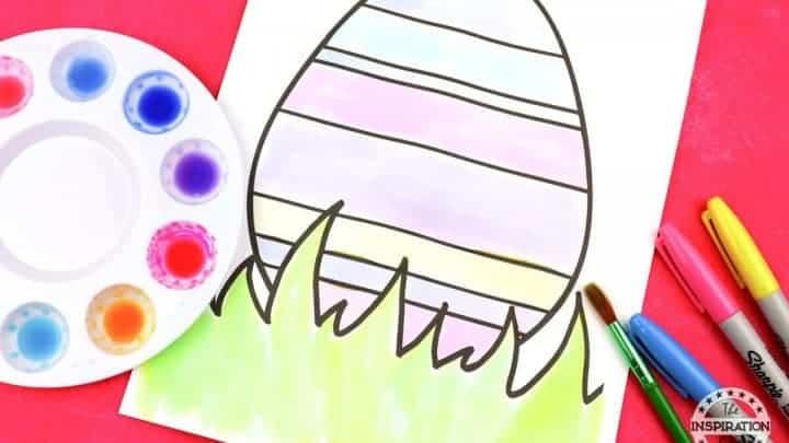 sharpie watercolour easter eggs