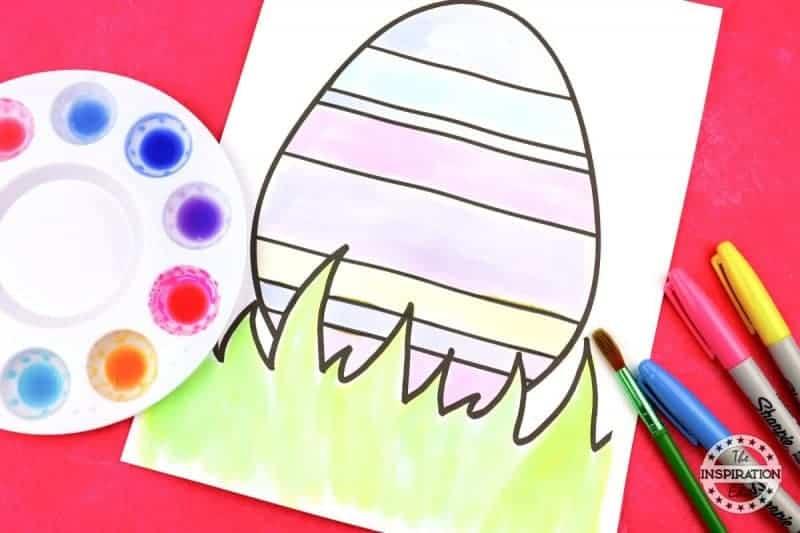 Watercolour Easter Eggs