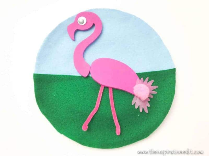 Paper Plate Flamingo Craft