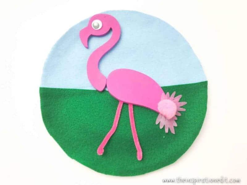 Flamingo Paper Plate Craft