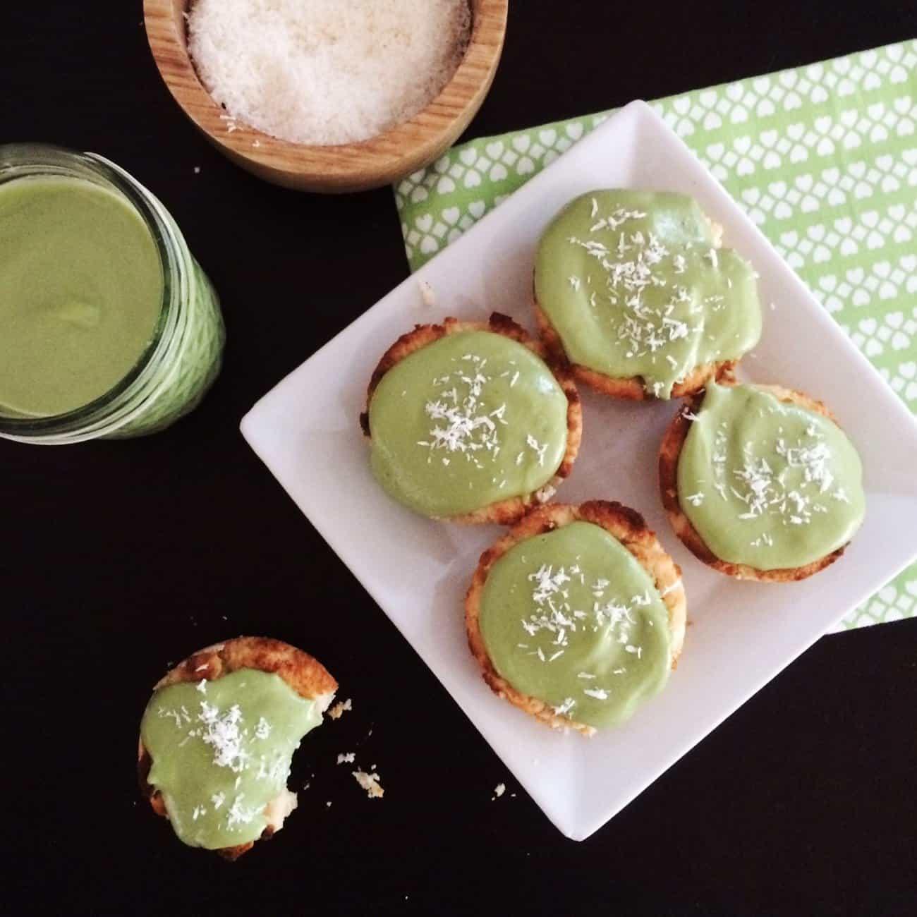 Instant-Pot-Low-Carb-Vegan-Cupcakes-Matcha-Coconut
