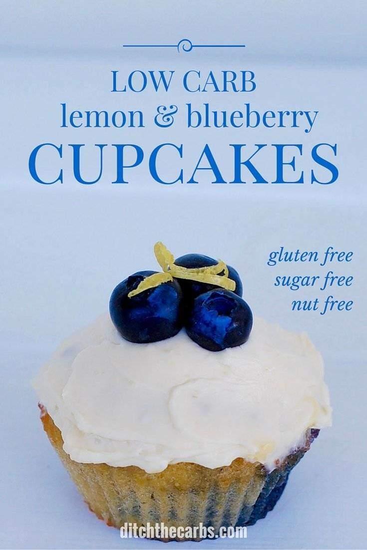 Instant_Pot_low_carb_lemon_and_blueberry_cupcakes
