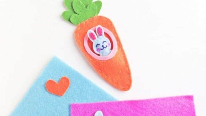 easter bunny in a carrot sewing style