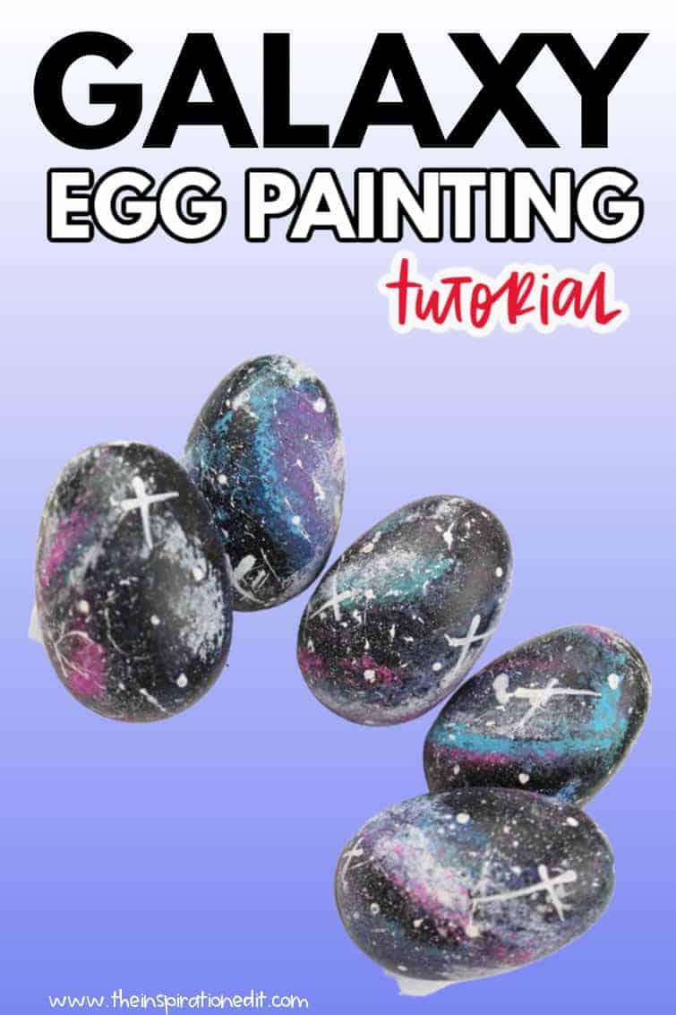 galaxy egg painting