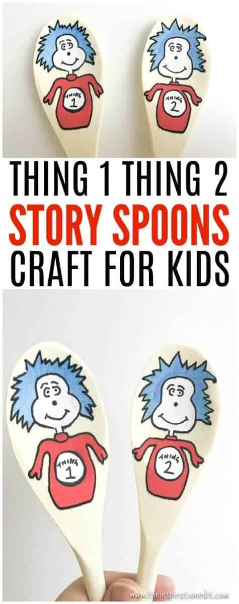 thing one thing two dr seuss story spoons