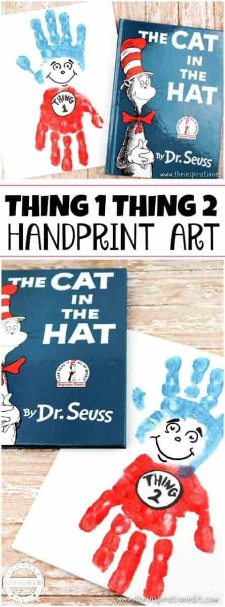 Thing One Thing Two hand Print canvas