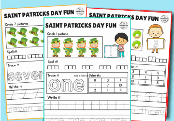 saint patricks day counting worksheets