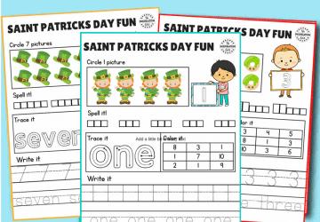 saint patricks day counting worksheets