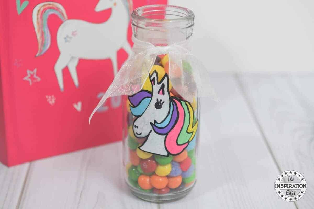 unicorn craft milk bottle