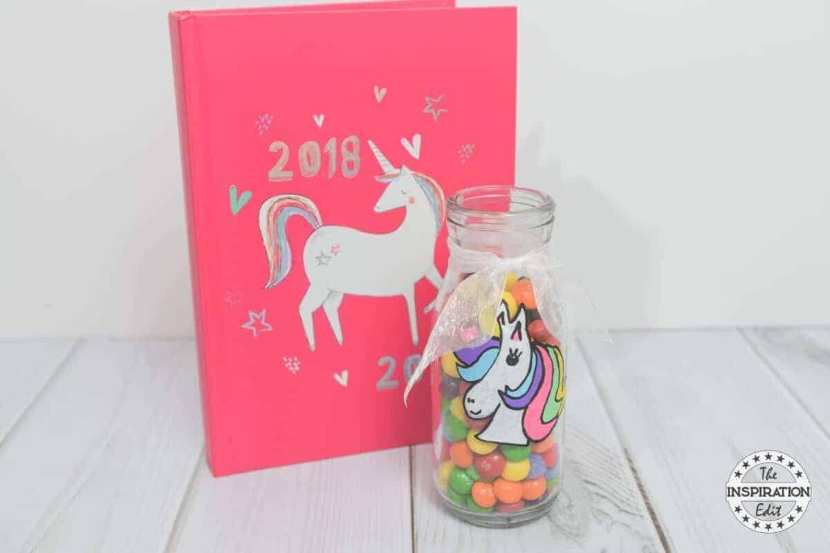 unicorn craft milk bottle