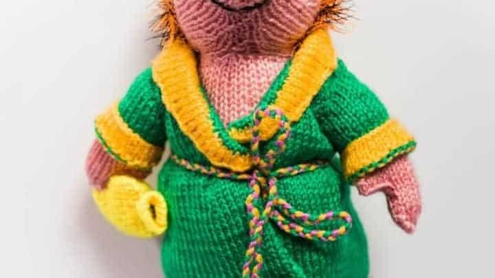 hedgehog knitted craft