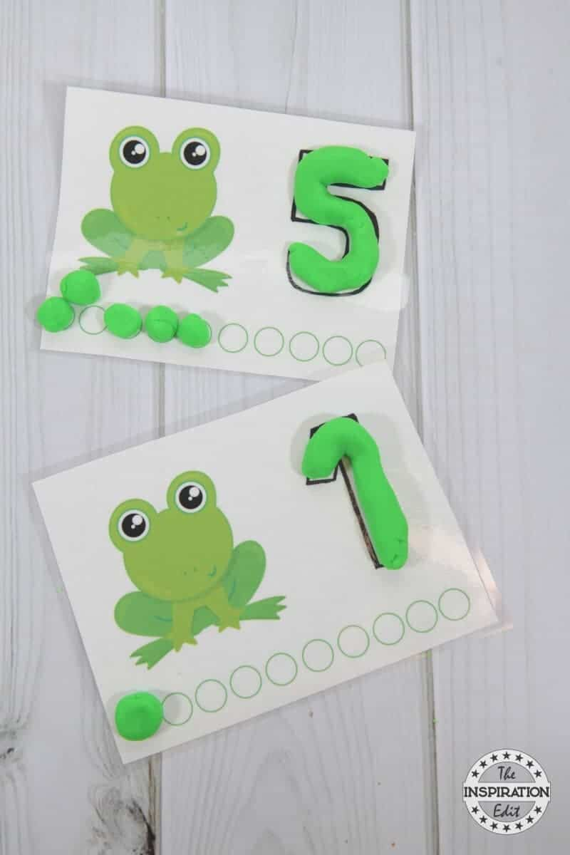 Fantastic Frog Counting Mats Printable 183 The Inspiration Edit