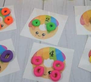 playdough counting mats activity for kids