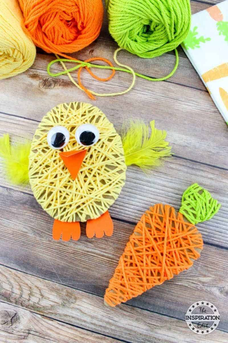 easter chick yarn craft