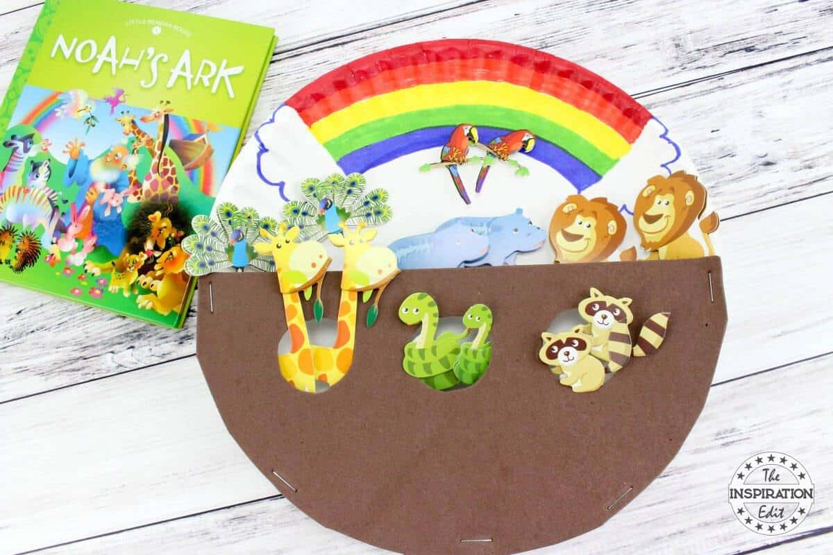 Paper Plate Noah S Ark Craft The Inspiration Edit