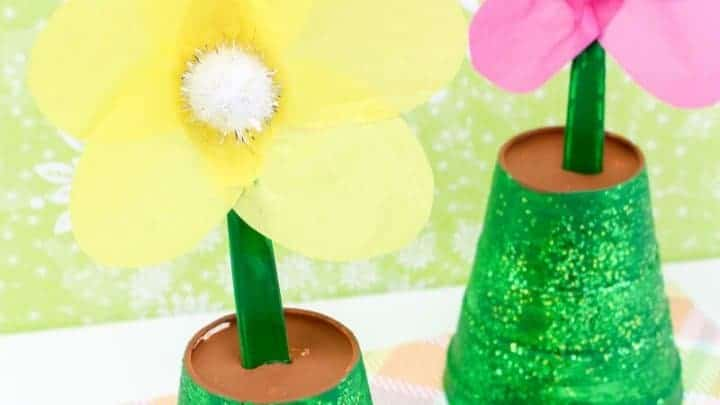 spring time flower pot painting