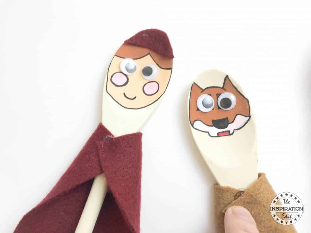 red riding hood story spoons