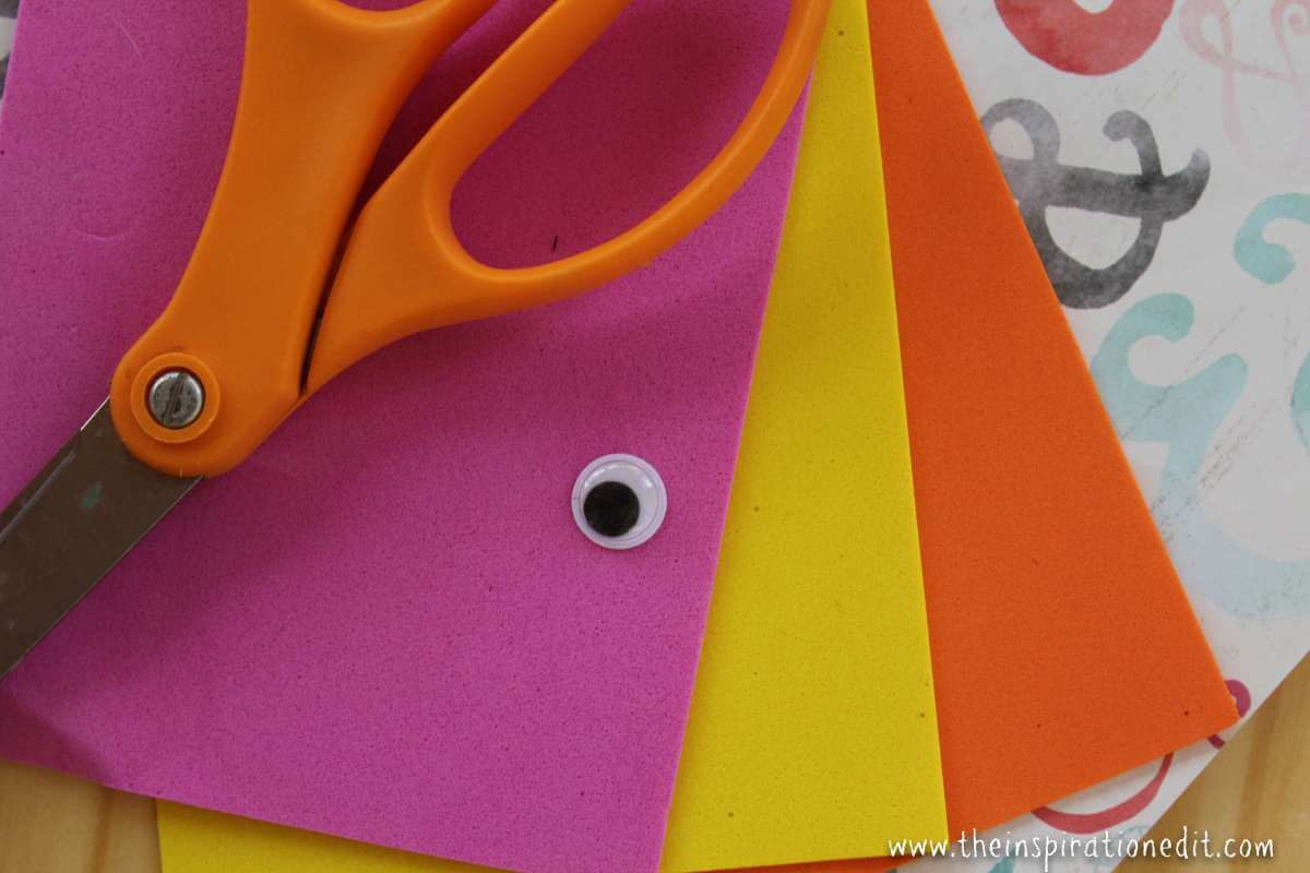 Cute Foam Fish Craft For Kids · The Inspiration Edit