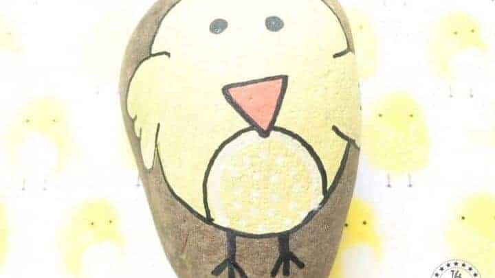 chick painted rock