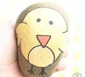 easter chick stone art