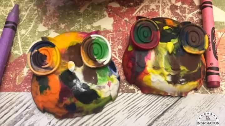 diy recycled owl crayons
