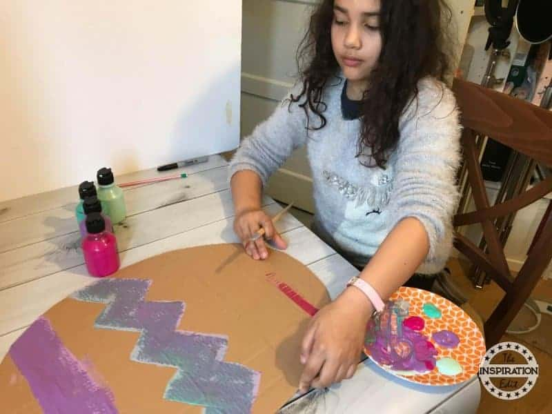 giant painted Easter egg craft