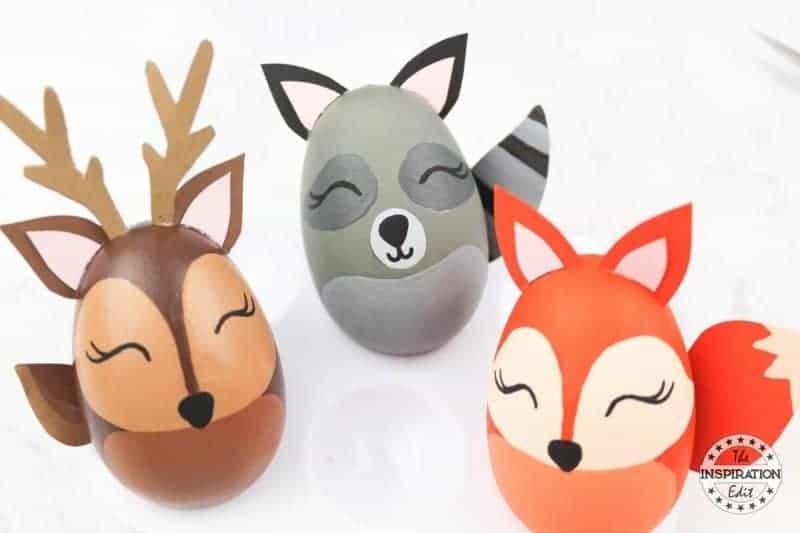 DIY Woodland Autumn Crafts Racoon, Deer And Fox