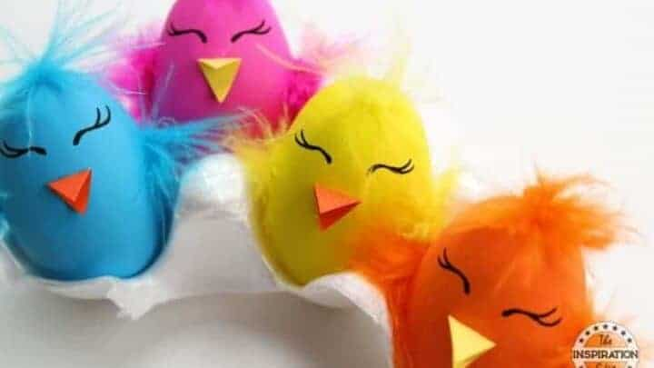 easter chick eggs