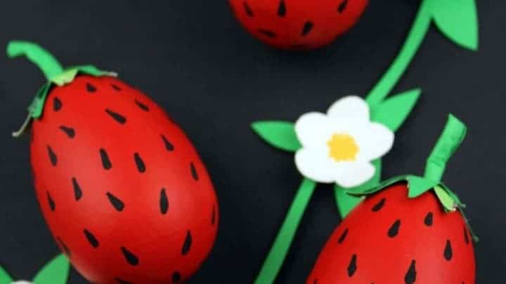 kids strawberry craft