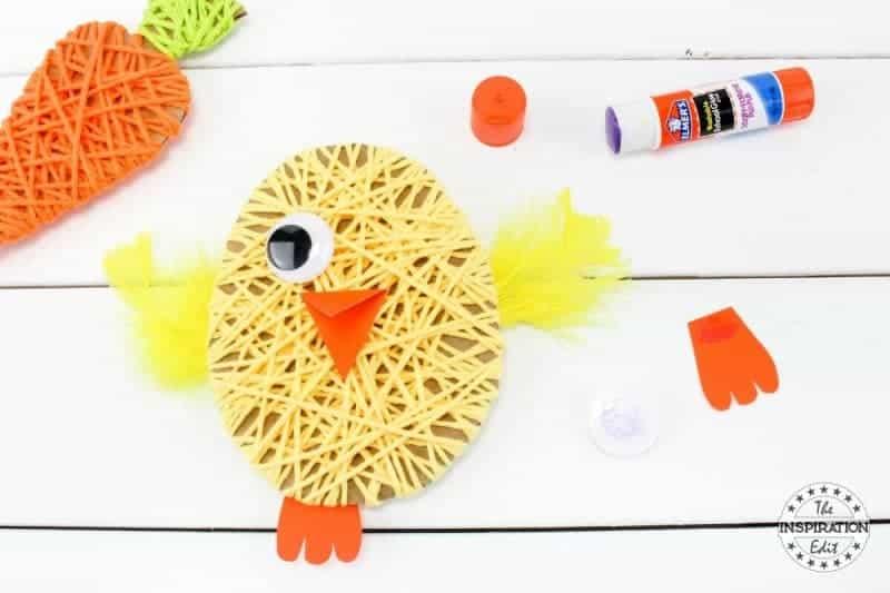 easter chick yarn craft