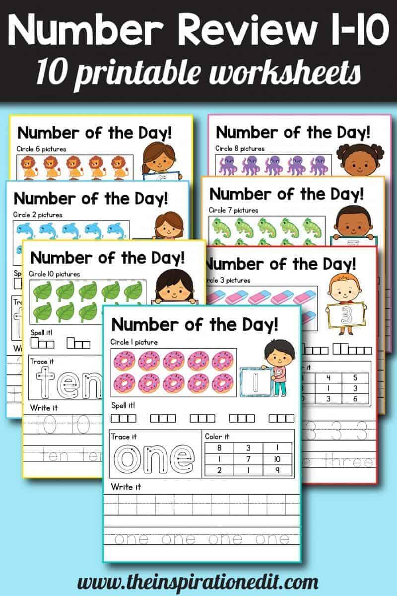 kids counting printables