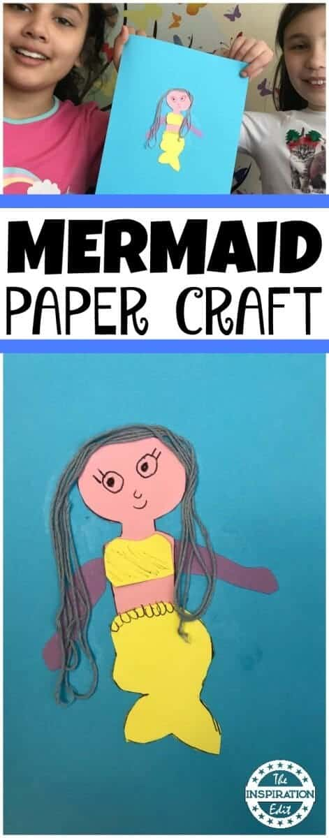Mermaid paper craft