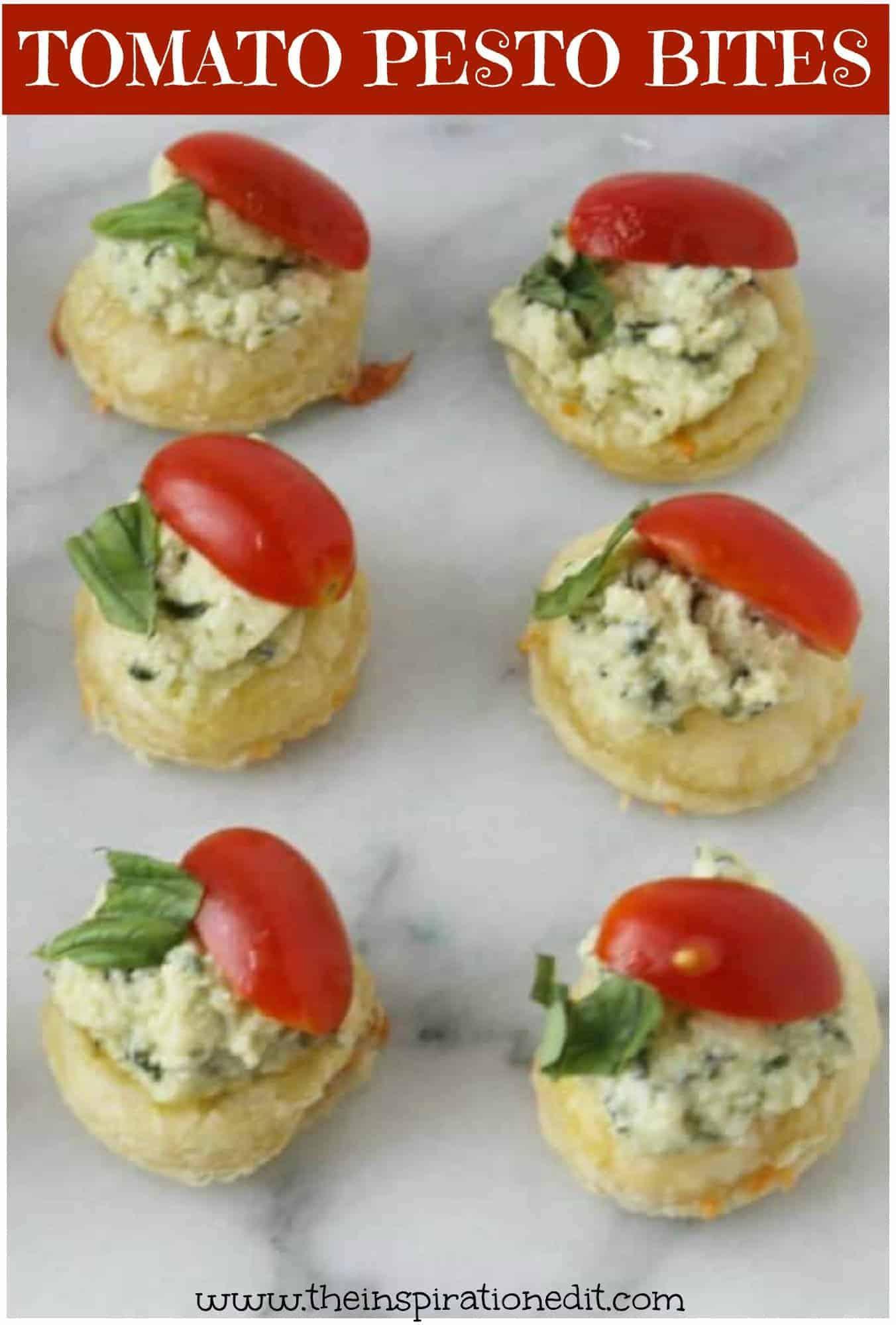 FINGER FOOD tomato pesto bites