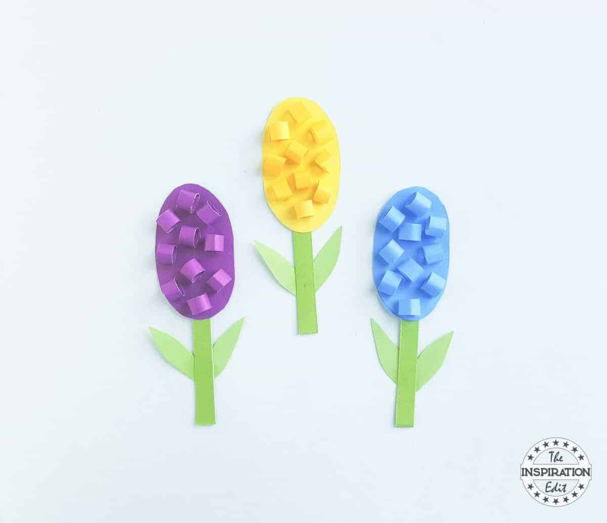 Paper Flower Hyacinth Craft For Kids The Inspiration Edit