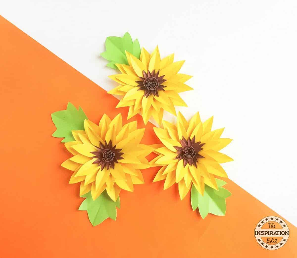 Paper Sunflower