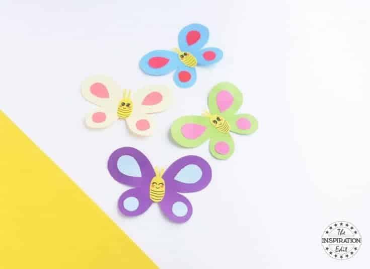 Easy Smiley Butterflies