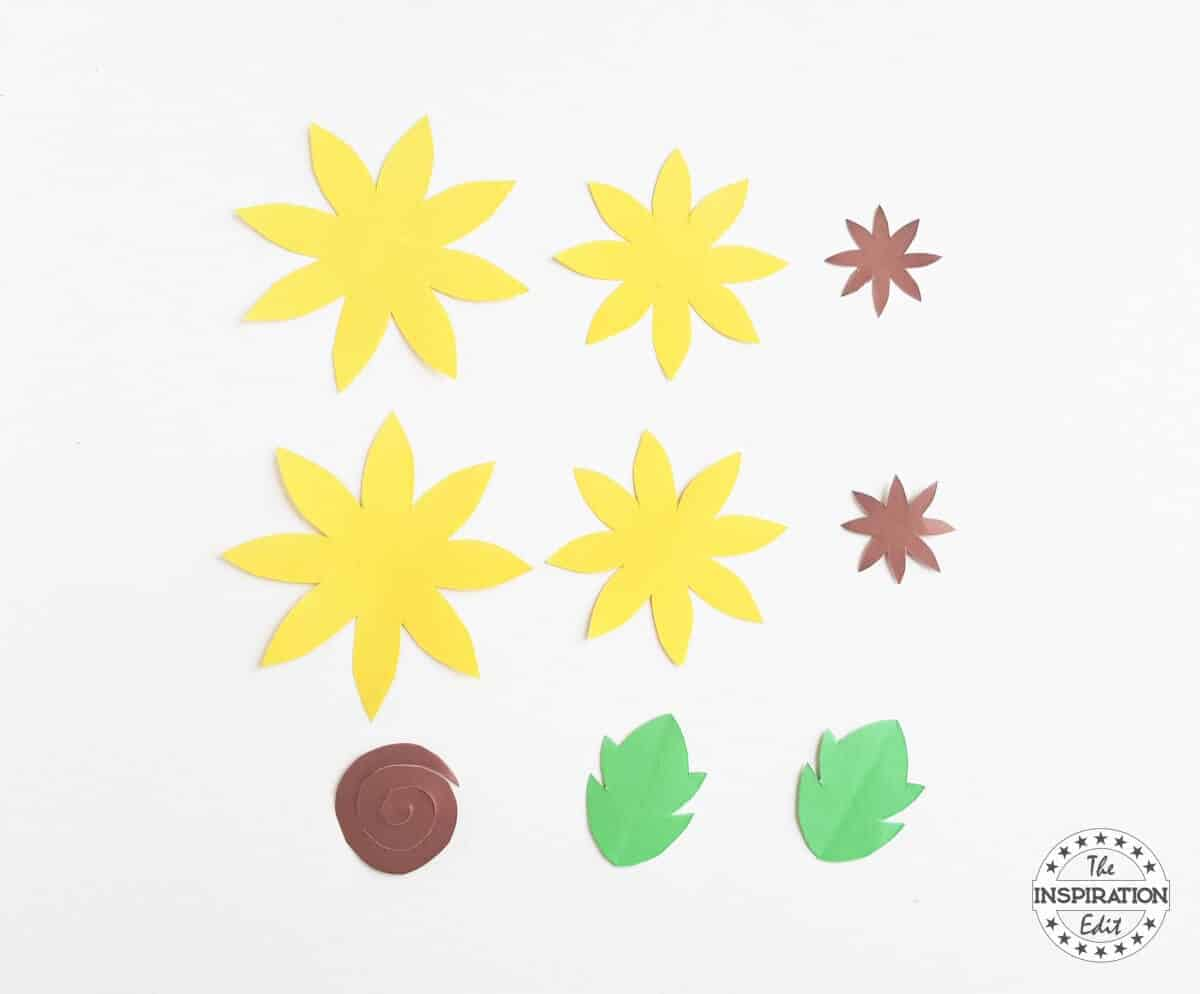 Diy Paper Sunflower Craft For Kids The Inspiration Edit