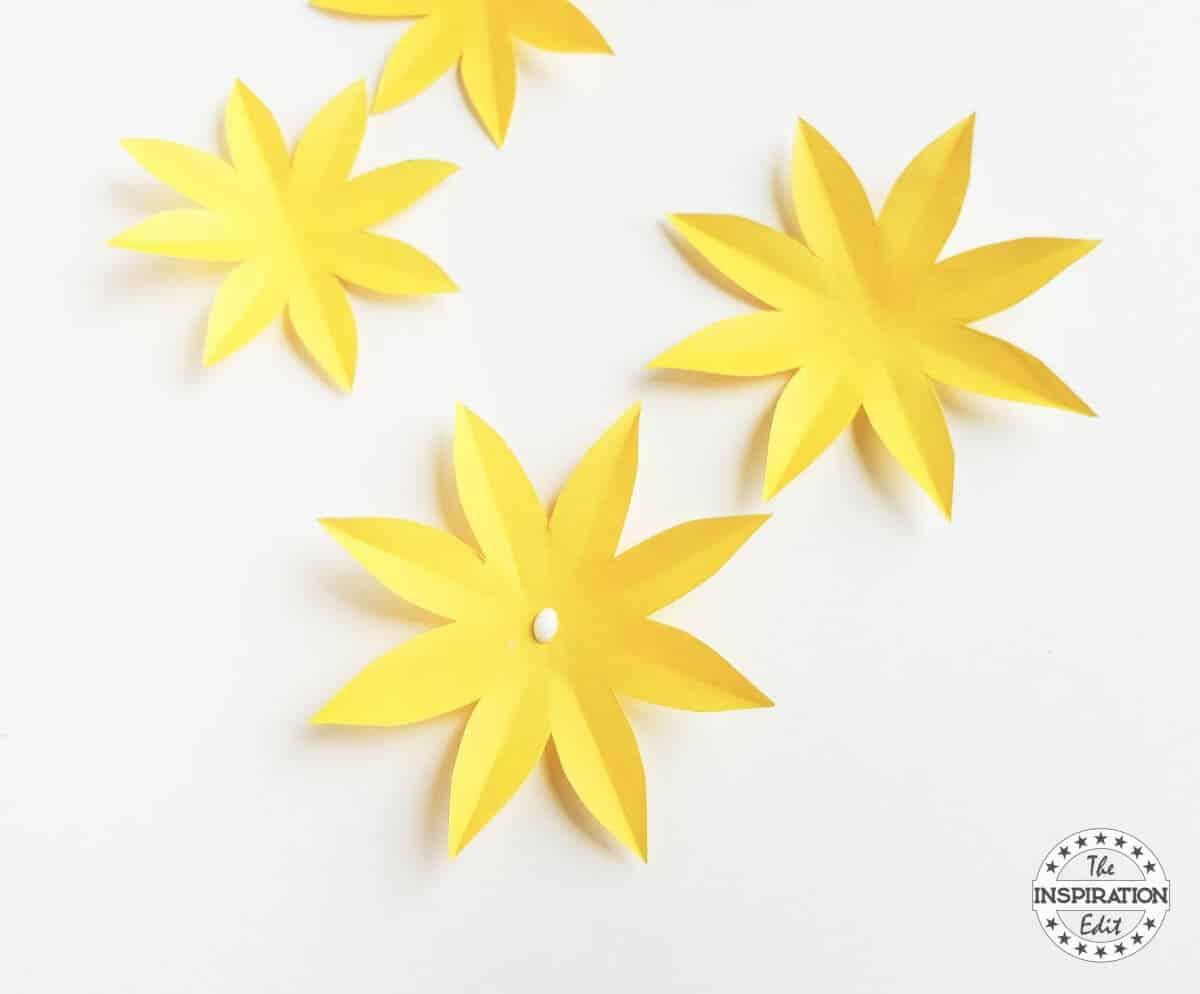 Diy Paper Sunflower Craft For Kids The Inspiration Edit