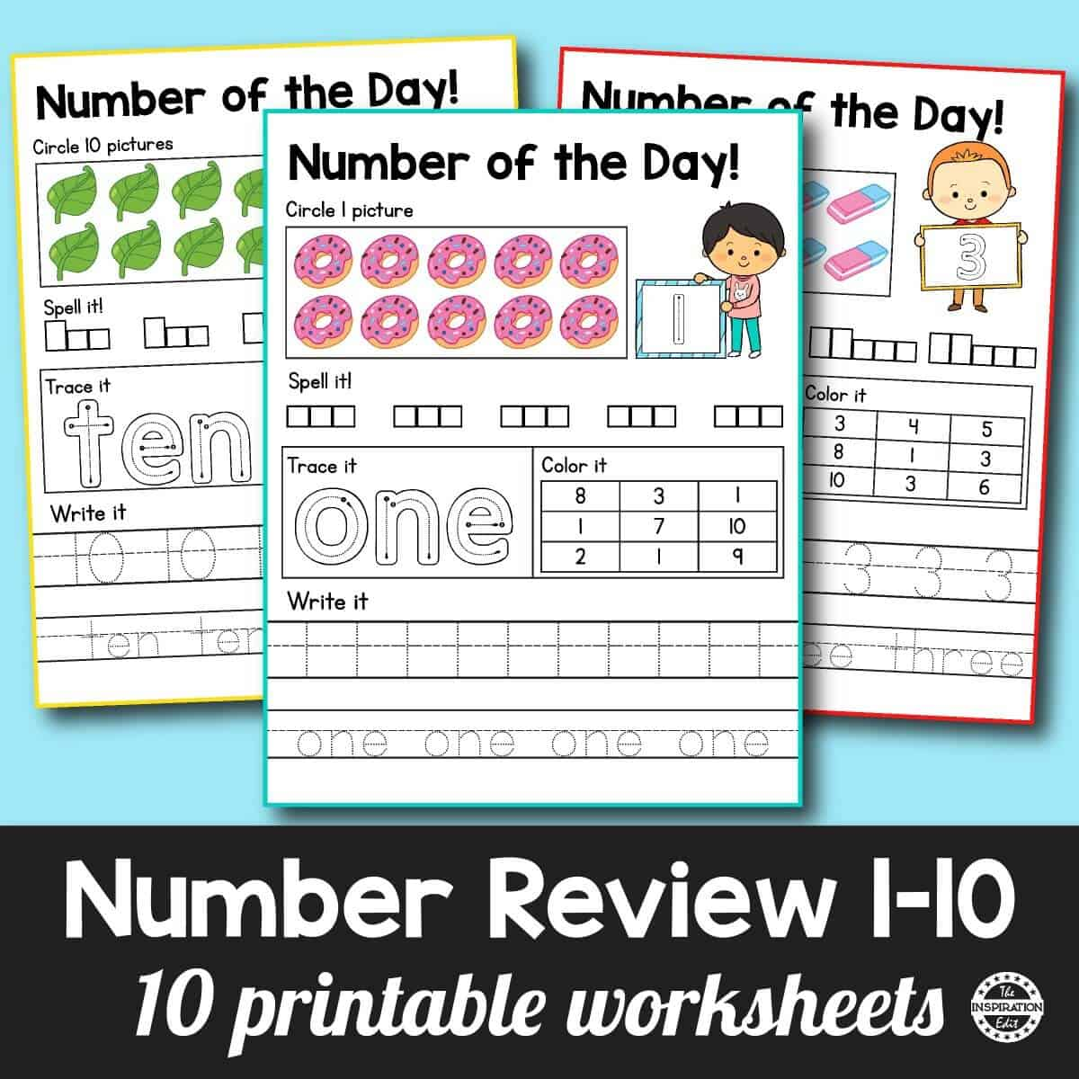kids counting number sheets