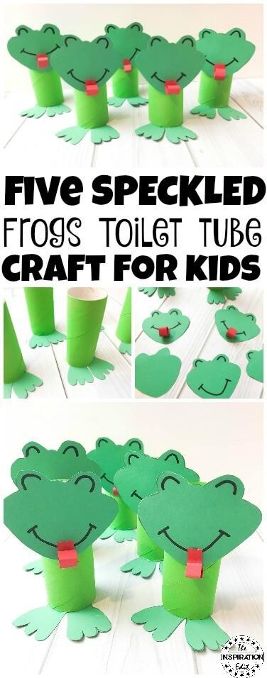 Toilet Tube Frog Craft For Kids