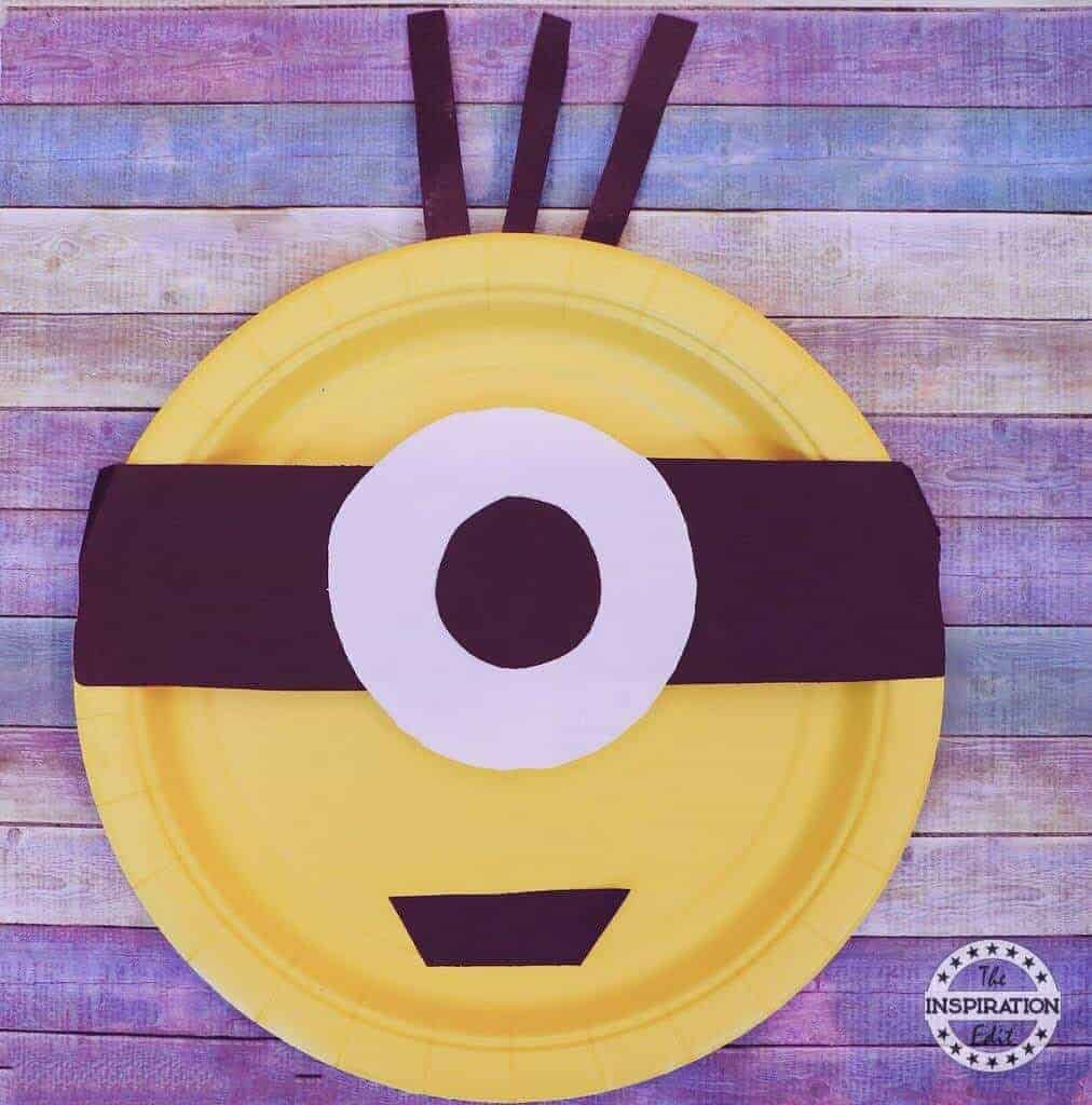 Minions paper plate craft  sc 1 st  The Inspiration Edit & Minions Paper Plate Craft · The Inspiration Edit