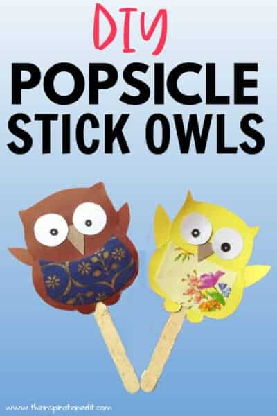 popsicle stick owls