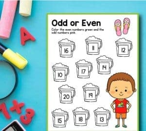 summer counting printables