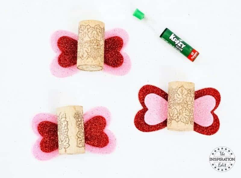 Wine Cork Butterfly craft love bugs