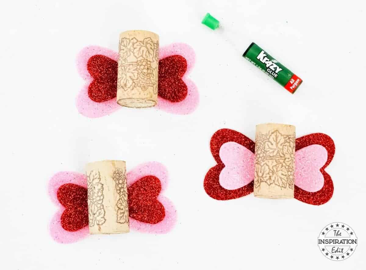 Wine Cork Butterfly craft love bugs