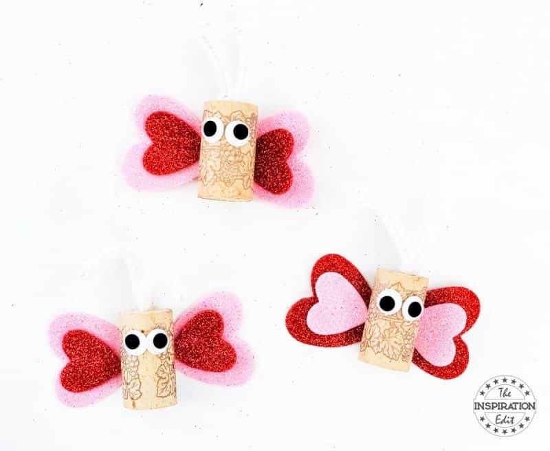 Wine Cork Butterflies butterfly craft for mothers day or valentine's day