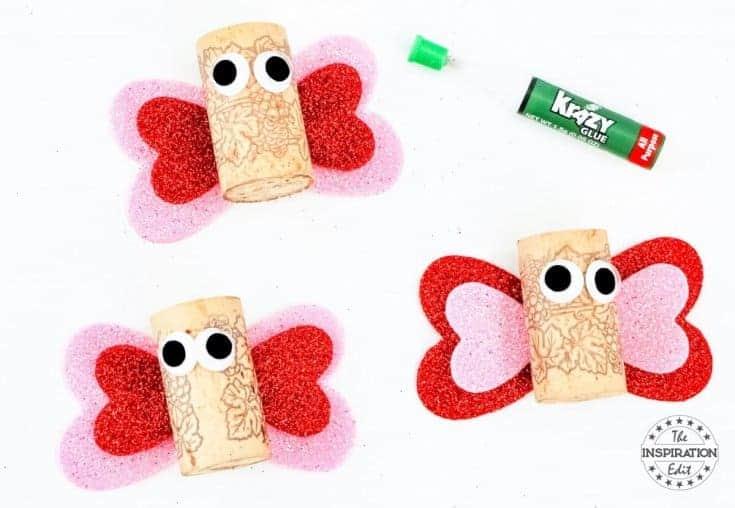 Easy Wine Cork Butterfly Craft