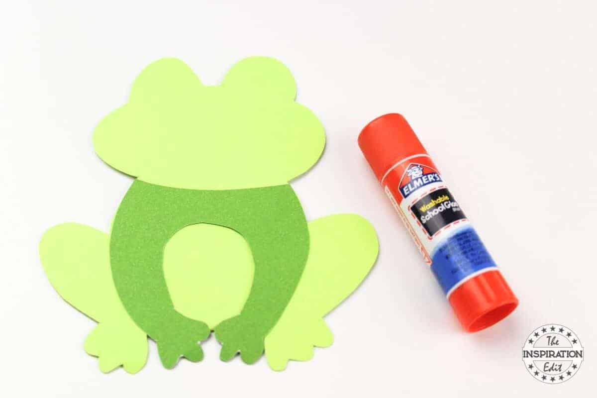 Frog paper bag template