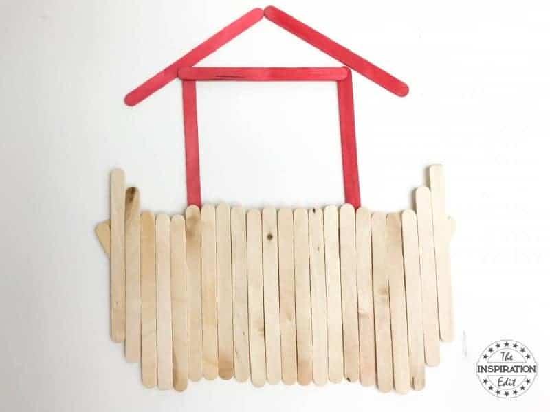 Noah's Ark Art Popsicle Stick Craft